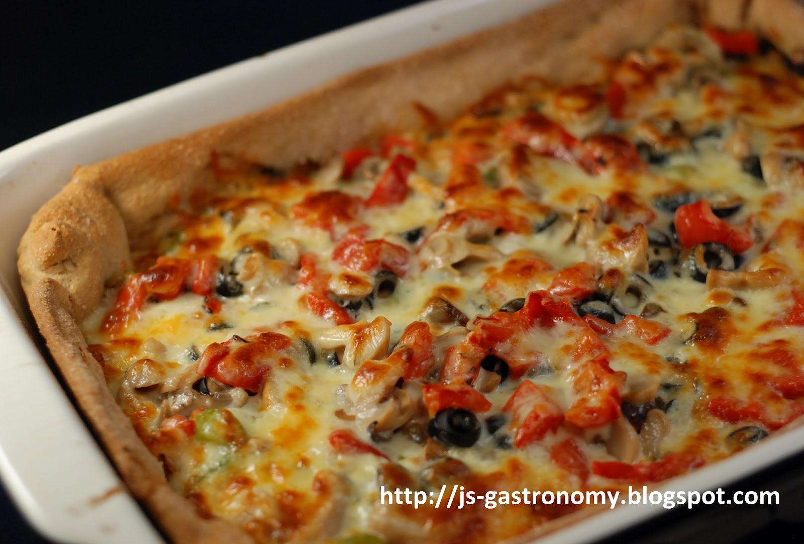 Gastronomy: Deep Dish Veggie Pizza
