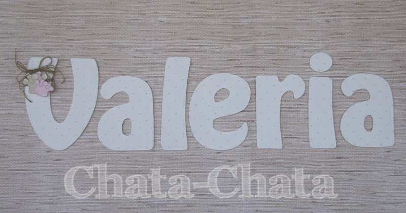 Chata chata decoraci n infantil letras para la pared - Letras para paredes infantiles ...
