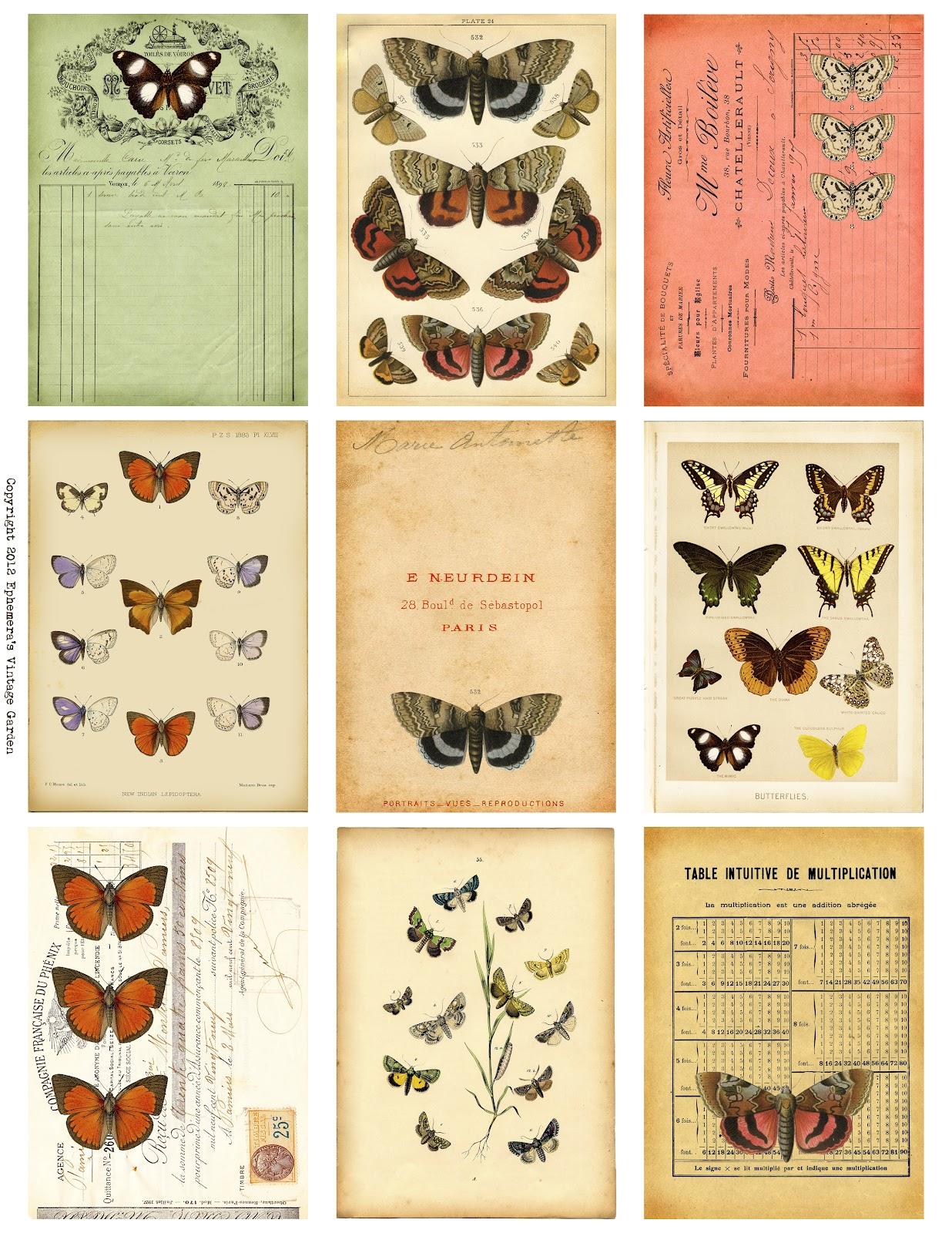 Ephemera's Vint... Journaling Cards Downloads
