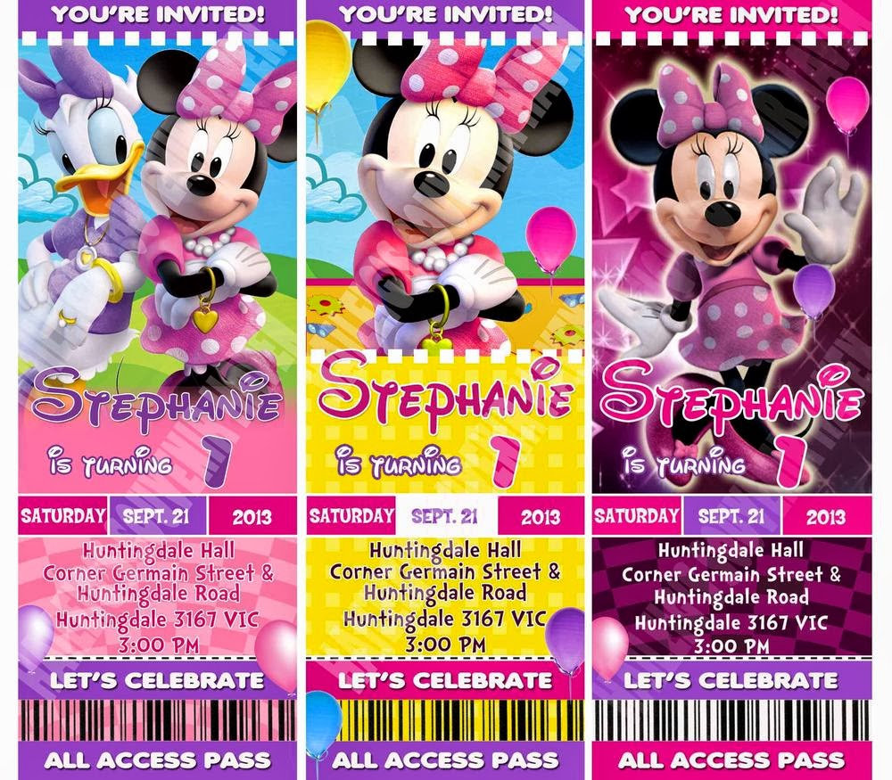 BIRTHDAY INVITATIONS MICKEY AND MINNIE SAMPLES Haileighs