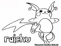 Mewarnai Gambar Pikachu Raichu