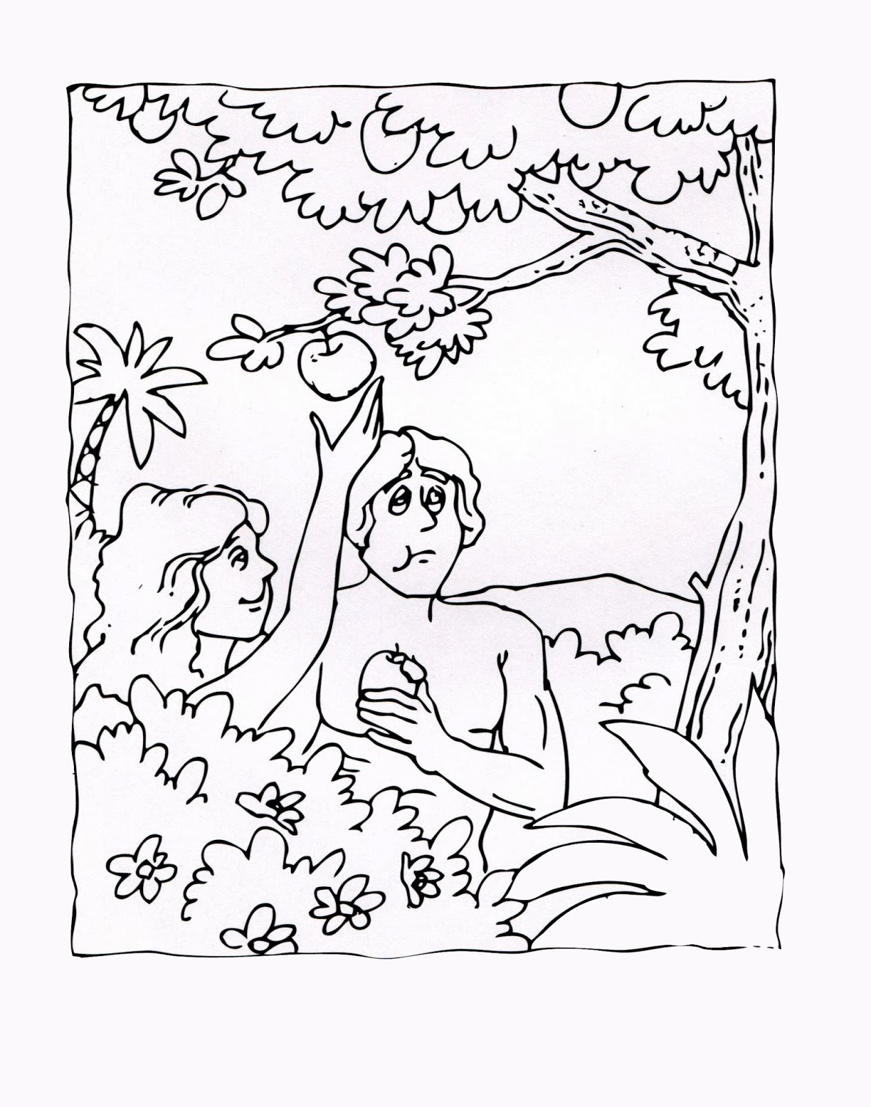 Imagenes cristianas para colorear dibujos para colorear for Coloring pages adam and eve