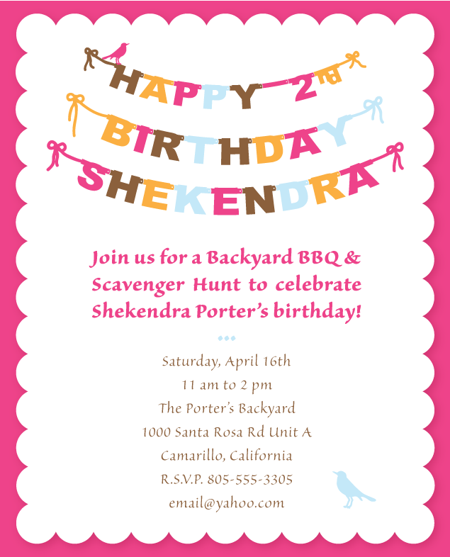 Old a little design everyday shekys 2nd birthday party banner i have a lot of catching up to do on posting the many graphic design jobs ive done lately wedding season and spring birthdays are upon us stopboris Choice Image