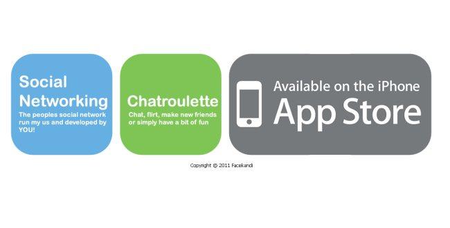 La chatroulette, la chat casual più famosa nel mondo, è scaricabile sull'app store con il nome di FaceKandi!