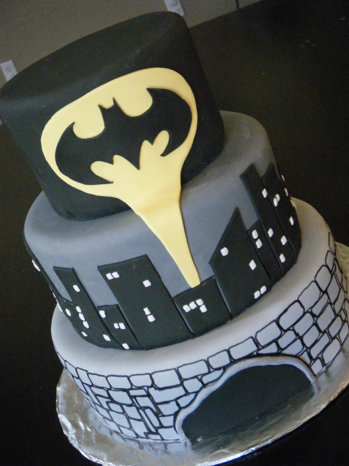 Batman Inspired Cakes