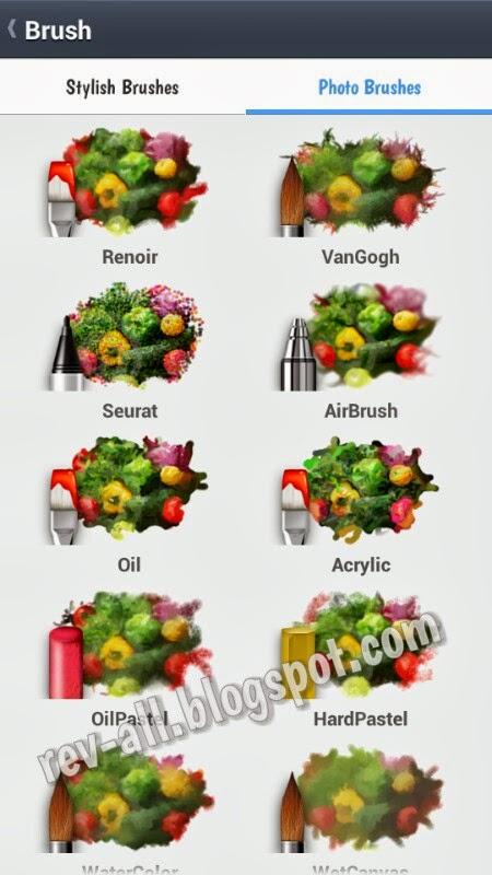 Jenis kuas untuk foto atau gambar- Line Brush aplikasi android sejenis paint untuk mencoret-coret di perangkat android (rev-all.blogspot.com)