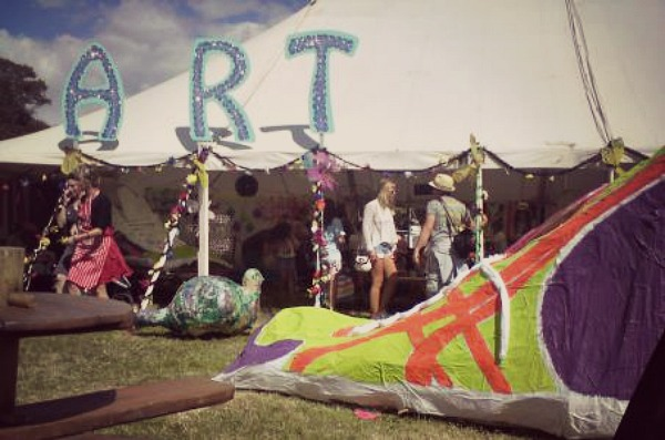 Camp Bestival Art Town