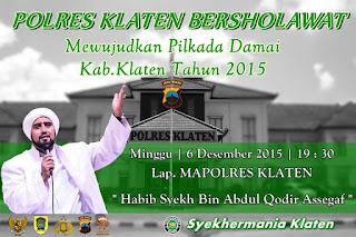 Polres Klaten Bersholawat