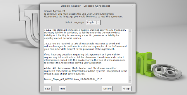 Adobe End User License Agreement Error Macro