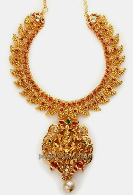 NAC jewellers antique mango mala design
