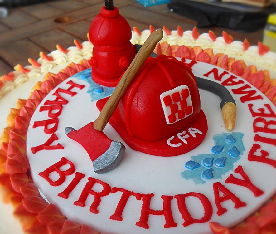 Firefighter Cake Designs