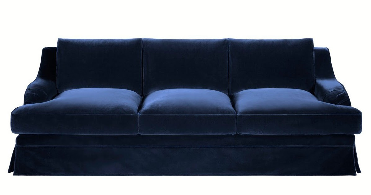 Paris brocante large beautiful navy blue velvet sofa for Couch 700 euro