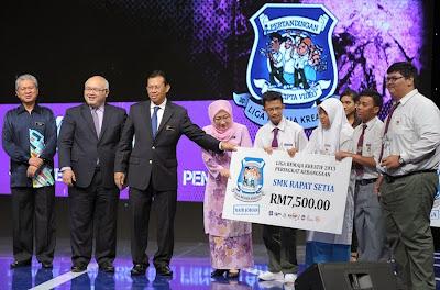 SMK Rapat Setia Perak Kedua Kebangsaan Liga Remaja Kreatif 2013