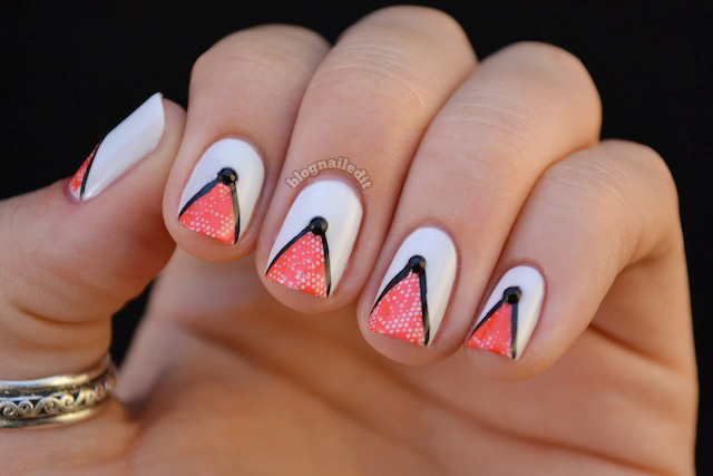 Nailed it the nail art blog july 2012 i used two opi colors here my boyfriend scales walls the white and stamped with tasmanian devil made me do it the black lines were done with black prinsesfo Choice Image
