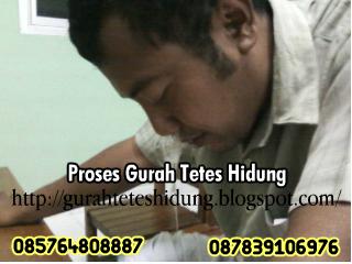 Prosesi Gurah Tetes Hidung