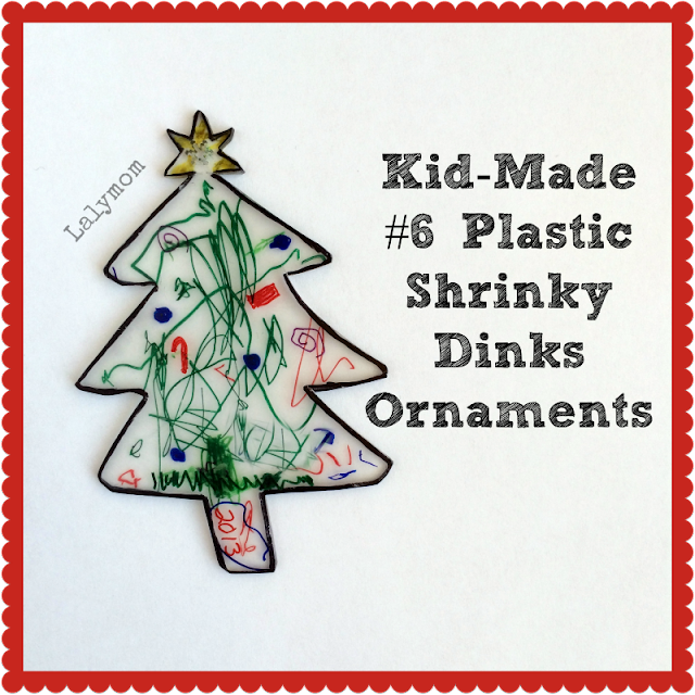 Kid-Made Frugal #6 Plastic Shrinky Dinks Christmas Ornament from Lalymom