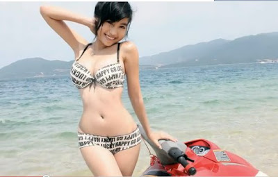 Elly Tran Ha with Swimsuit 2011 - 2012