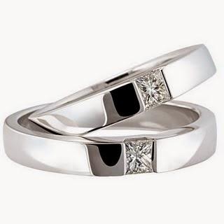 Model cincin tunangan emas putih terbaru