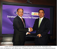 Mobilink and Ufone tower sharing agreement