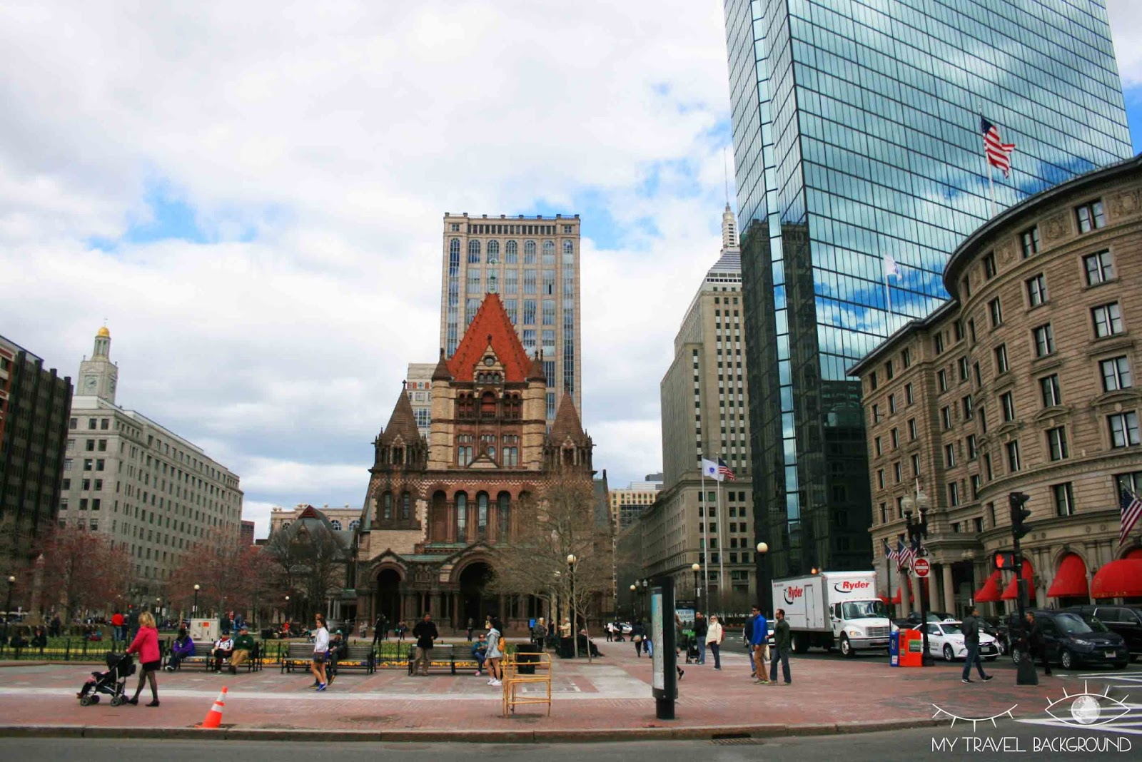 My Travel Background : Copley Square et la Trinity Church