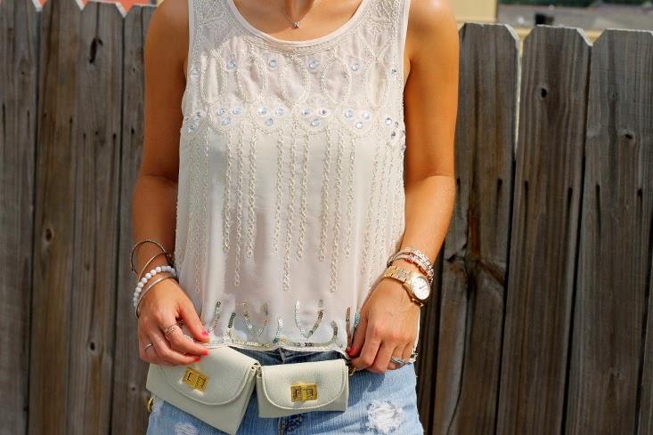 Erin Dana Champagne Belt Bag - 2014 Fanny Pack Trend