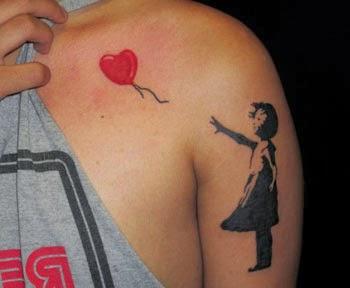 Ideias para tatuar coração no ombro