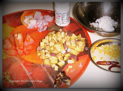 brinjal chutney/kathrikai thogayal