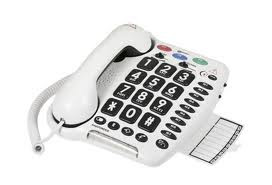 teléfono con números en gran formato