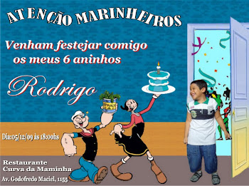 Convite Marinheiro Popeye