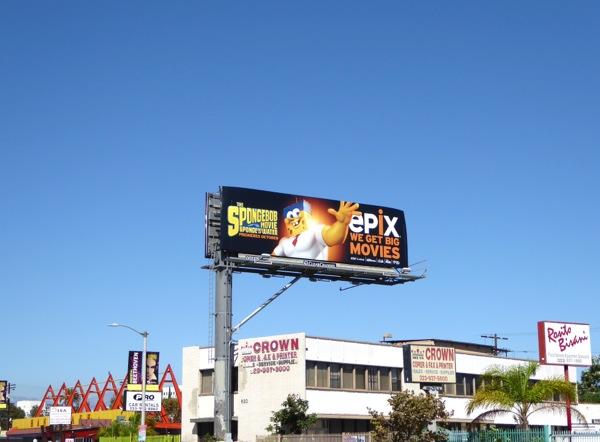 Epix SpongeBob Movie billboard