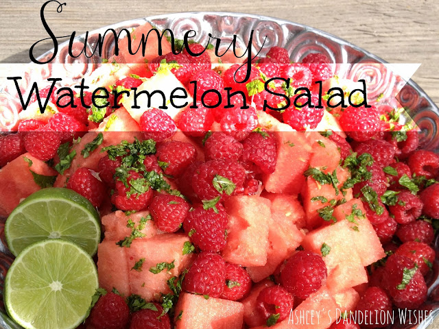 Summery Watermelon Salad from Ashley's Dandelion Wishes