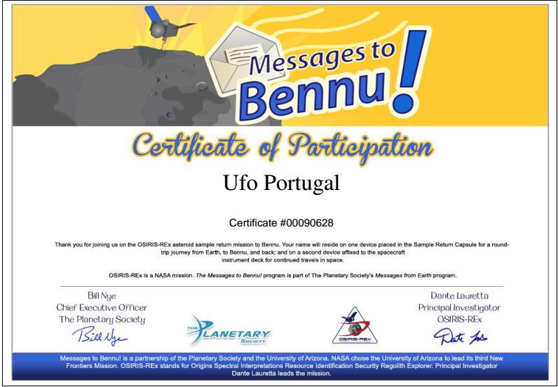 Ufo Portugal no Espaço