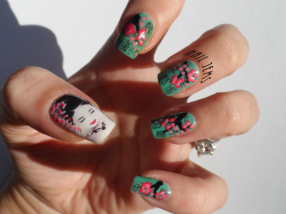Nail Jems: Japanese Geisha Design - Water Decals and Paper Print ...