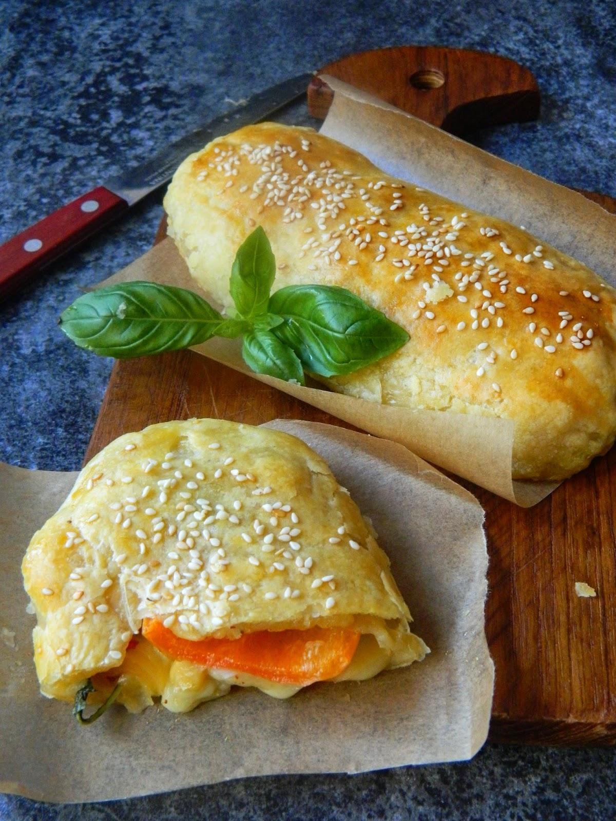 Pachetele cu legume si mozzarella