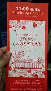 White House Garden ticket example