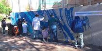 Compartiendo muros: Flores (Playa Victoria, Madrid)