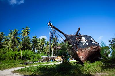Piratenschiff im L'Union Estate auf La Digue