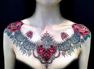 Tatuagem no Colo Feminino