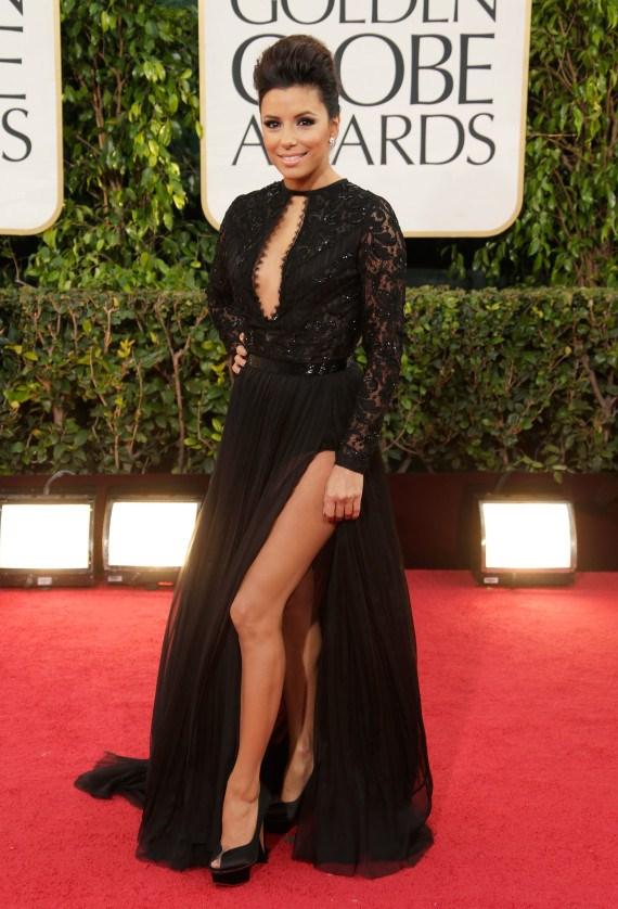 Emilio Pucci Gold Caviar Heart Dress Eva Longoria in Emilio Pucci