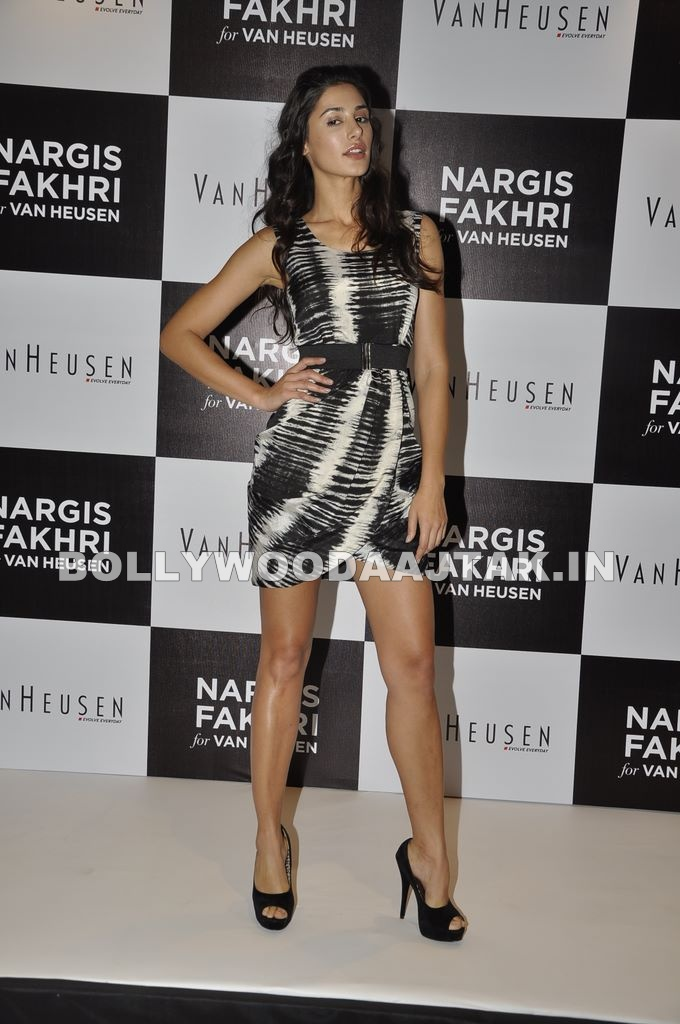 , Long Legs Beauty Nargis Fakhri Is Van Heusen Brand Ambassador