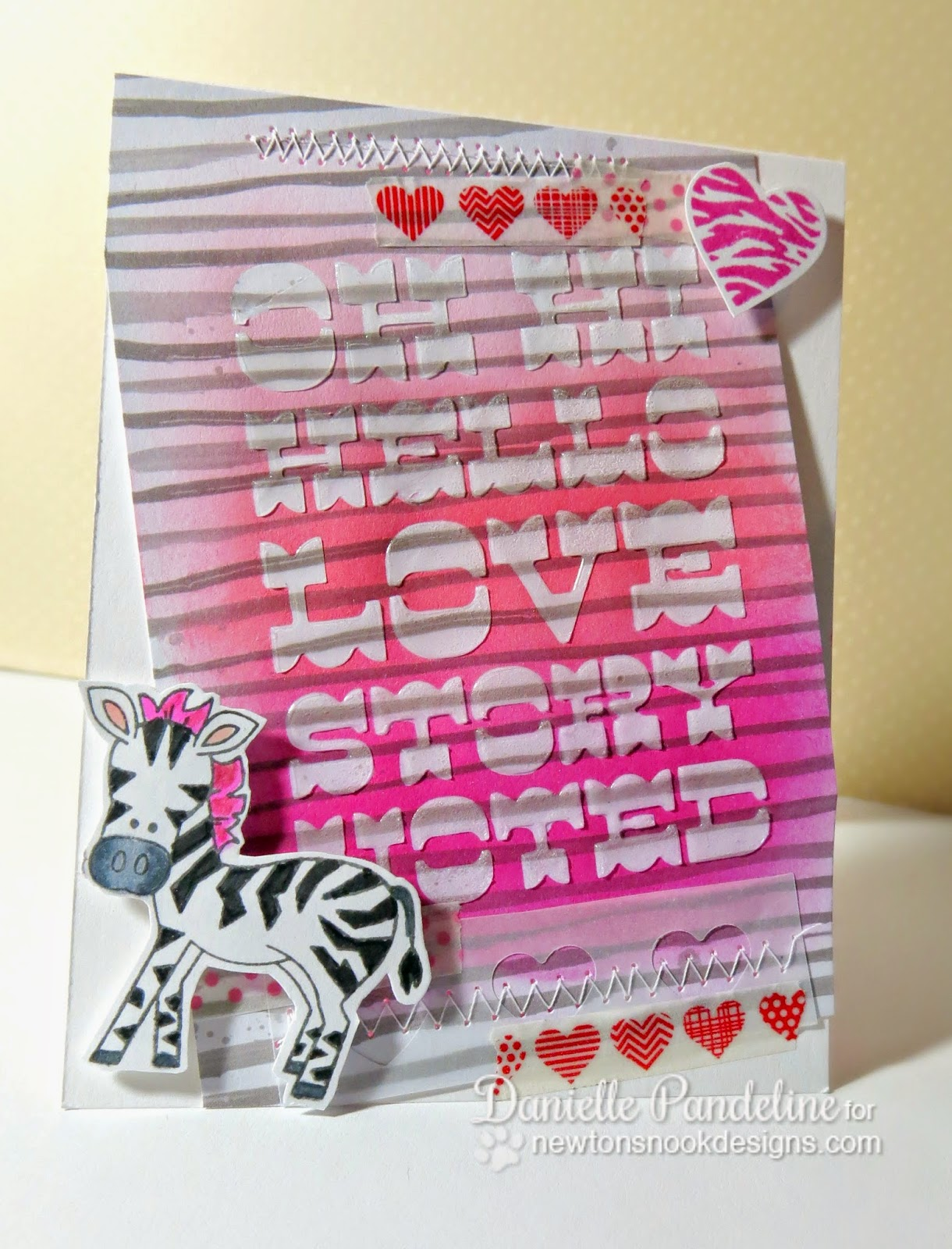 Love Story Card By Danielle Pandeline   featurng Wild About You - Newton's Nook Designs