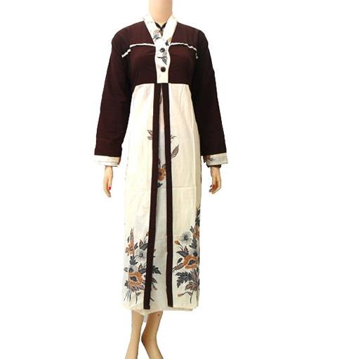 model baju gamis batik wanita modern