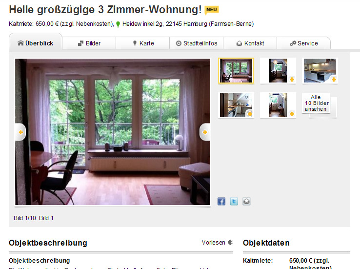 helle gro z gige 3 zimmer. Black Bedroom Furniture Sets. Home Design Ideas