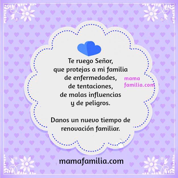 Oración corta bendiones para la familia, mamá y familia, frases cristianas, oraciones por los hijos por Mery Bracho
