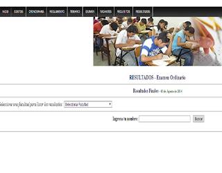 Resultados examen UNSM 2014 II Examen Universidad Nacional San Martín en Tarapoto UNSM 14 de Abril