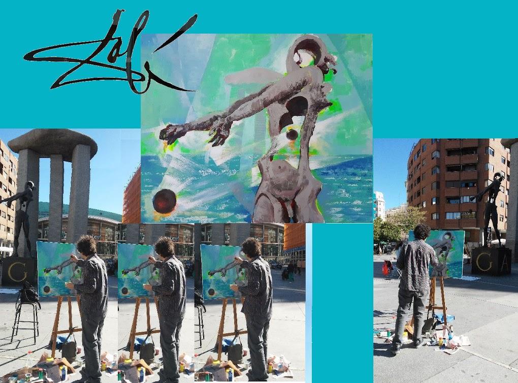 "Pintando al ""aire libre"" para homenajear a Dalí"