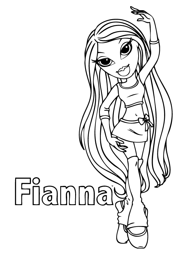 bratz sasha coloring pages - photo#24