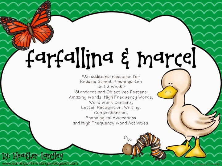 http://www.teacherspayteachers.com/Product/Farfallina-and-Marcel-Reading-Street-Kindergarten-Unit-3-Week-4-1504814