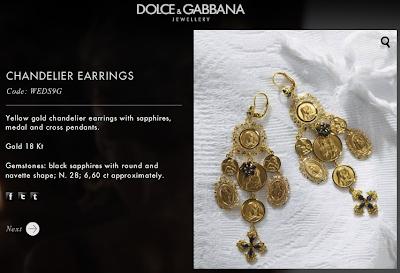 D&G fashion Jewelry| Chandelier Earrings