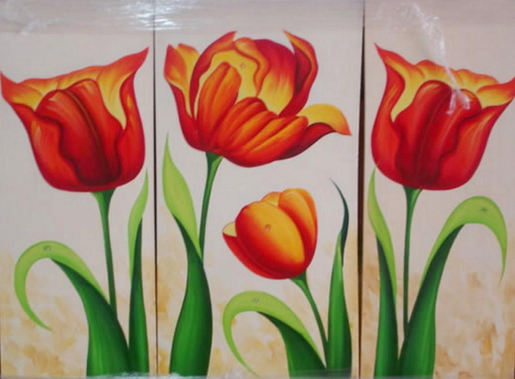 Cuadros modernos pinturas y dibujos bodegones de flores for Cuadros bonitos y modernos